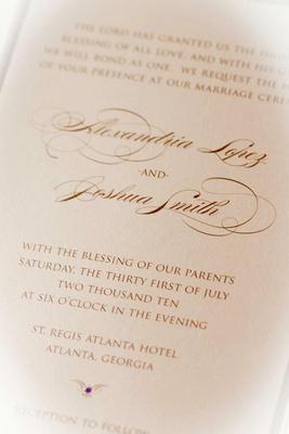 Basketball player Josh Smith's wedding invite