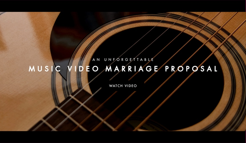 See the video of a man proposing to girlfriend with music video