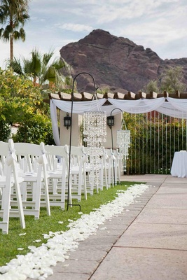 Arizona desert mountains as ceremony backdrop
