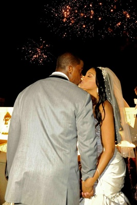 Kordell Stewart and Porsha Williams kissing