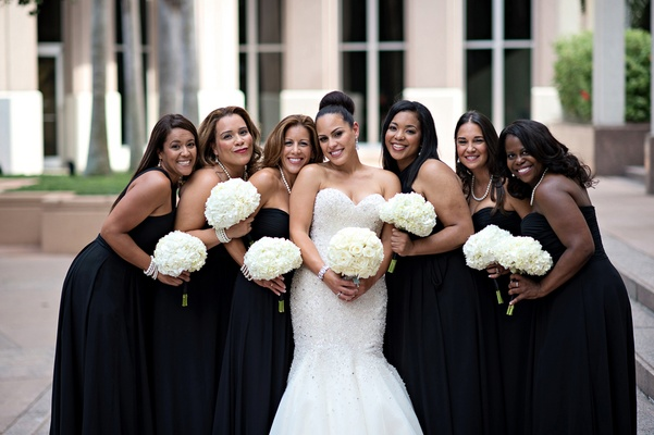 Black Wedding Gown: Elegant Summer Wedding With Timeless Color Palette In