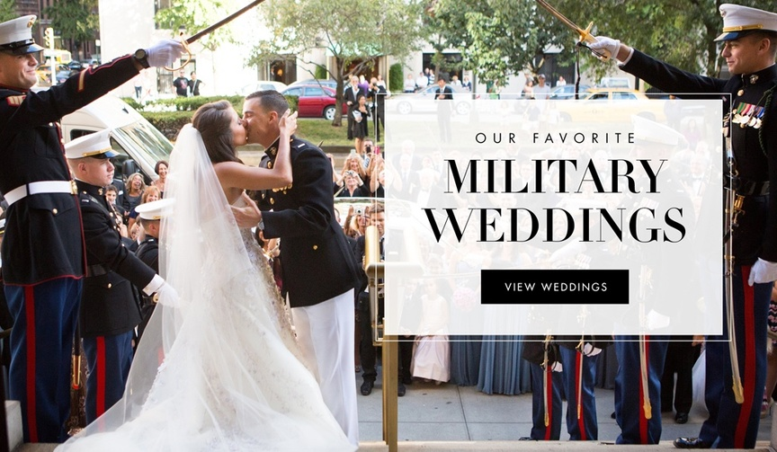 View more of Inside Weddings favorite military weddings