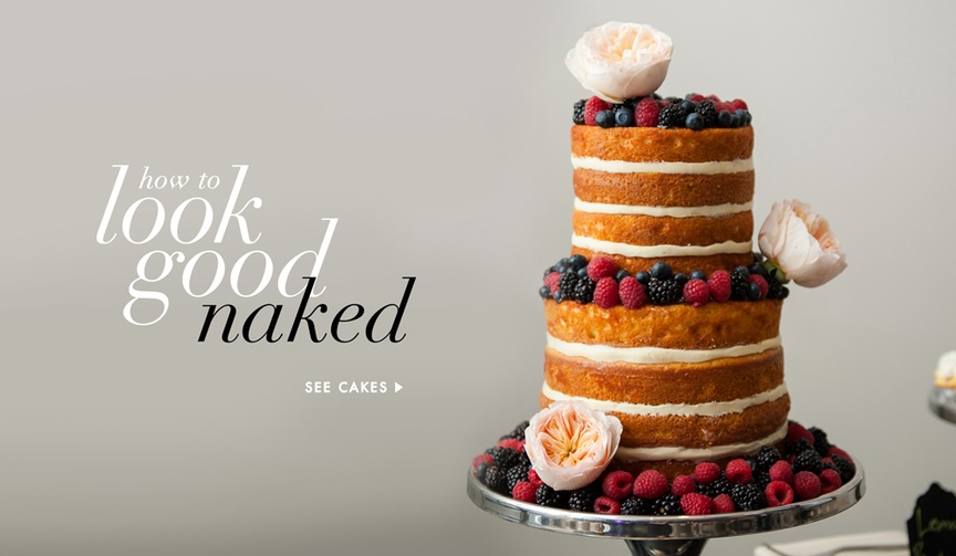 Naked wedding cakes from real weddings