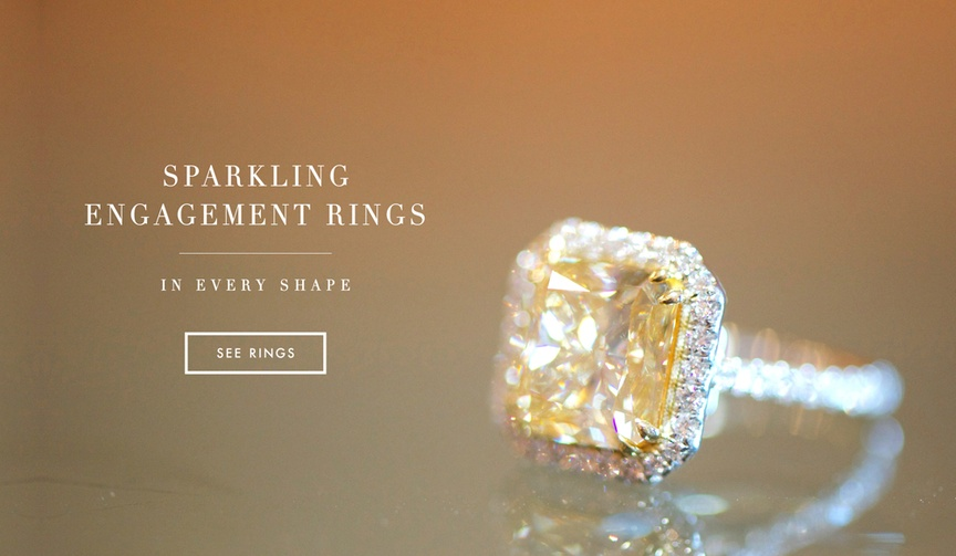 Engagement Ring styles by shape and color