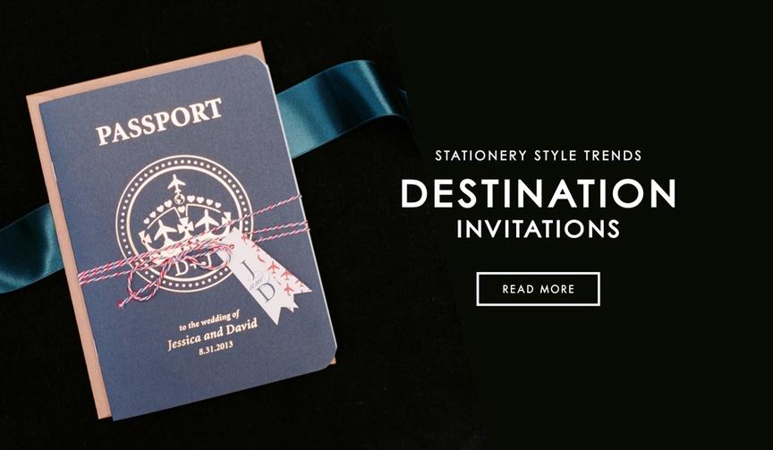 Passport wedding invitation for destination wedding