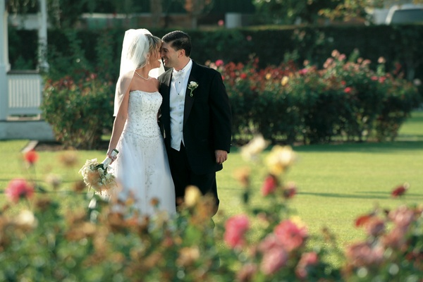Husband and wife at Empire Polo Club rose garden