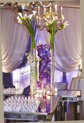 Stunning Chicago Wedding With Purple Lighting Amp Ivory Florals