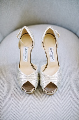 Bridal Jimmy Choo heels with ankle strap and snakeskin