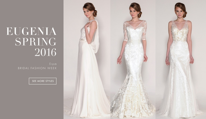 Eugenia Spring 2016 wedding dress collection