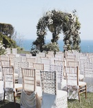 Brittney Palmer's oceanfront wedding ceremony