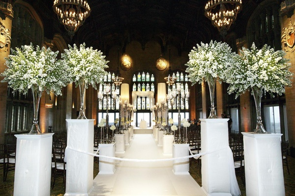 decoration ideas for wedding ceremony all white celebration in chicago illinois 3410