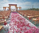 Outdoor Indian wedding ceremony and mandap