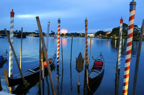 Gondolas at Disney World Epcot Center