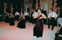 Traditional dancers dancing barefoot