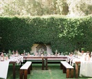 U-shaped rehearsal dinner table