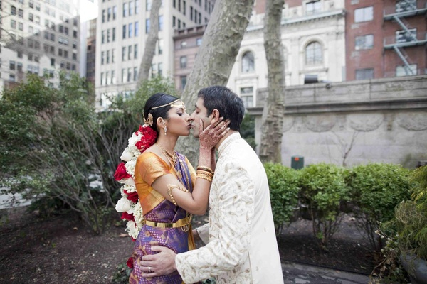 Actress Reshma Shetty and groom dressed in traditional outfits for a Indian Hindu wedding