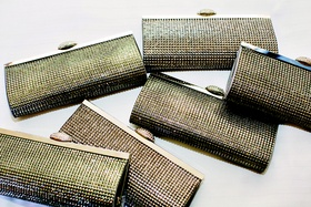 Metallic silver and gold wedding bridal clutch gifts