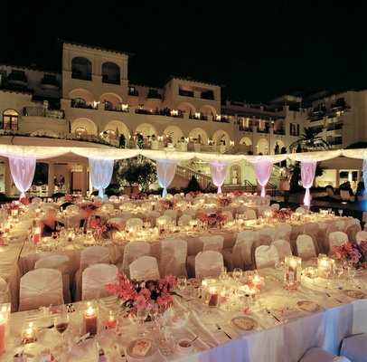 The St. Regis Monarch Beach outdoor event lighting