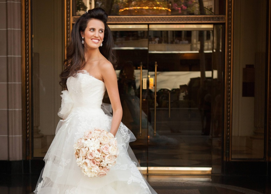 This beautiful bride held her fall destination wedding in Beverly Hills, California.