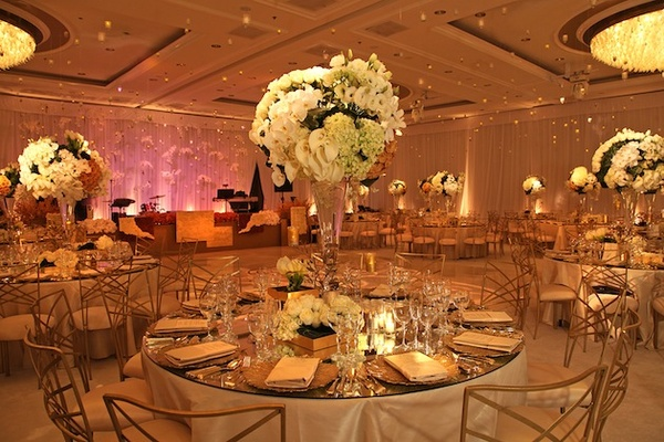Opulent gold wedding in beverly hills california inside