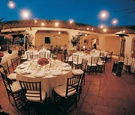 Wedding Reception in a Spanish-Style Courtyard