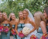 Brooke Anderson and bridal party on wedding day