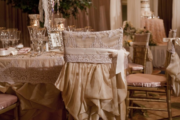 Victorian-style wedding reception chairs
