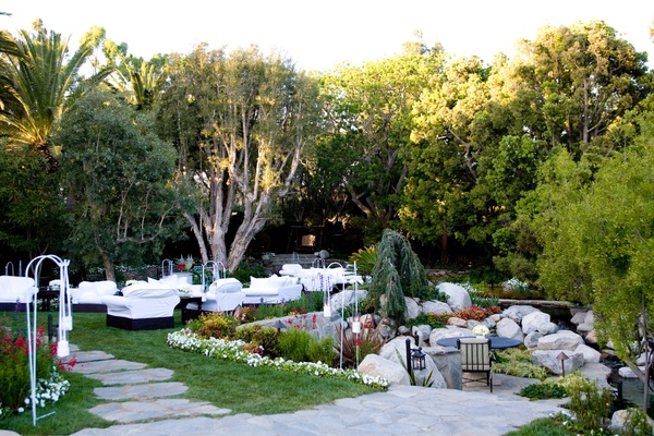 Malibu estate outdoor seating area