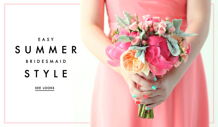 Five ways to put together summer bridesmaid looks.