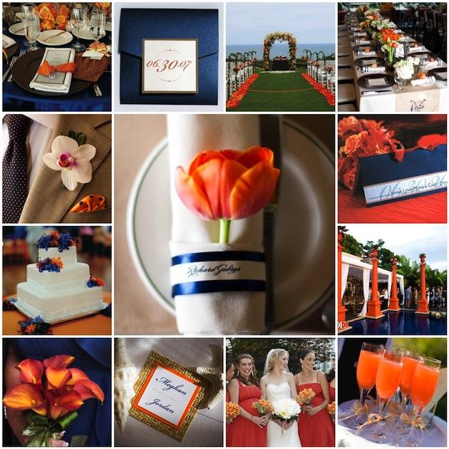 Wedding Decorations Blue And Orange : Orange and blue wedding color palettes themes inside