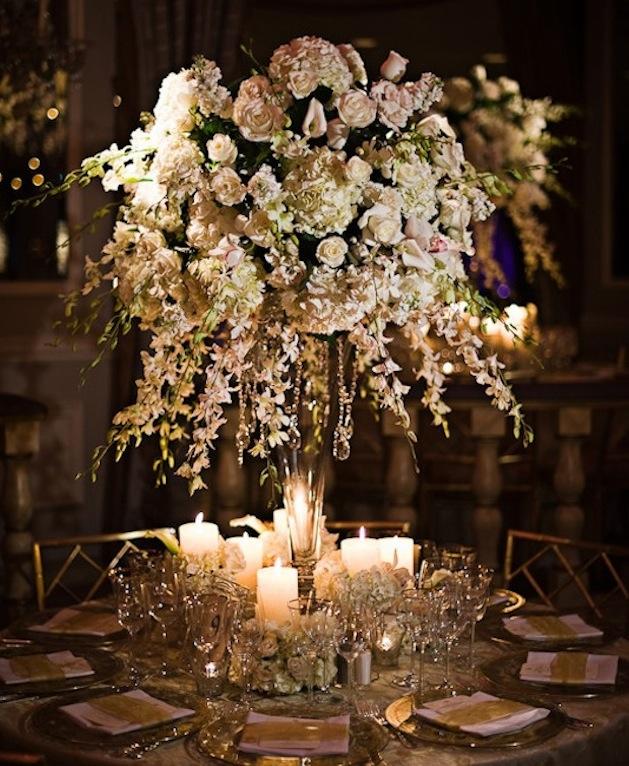 Tall wedding centerpieces wedding flowers inside weddings for Centerpiece flowers for wedding reception