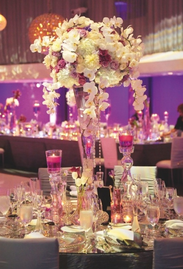 Tall wedding centerpieces wedding flowers inside weddings for Wedding reception centrepieces