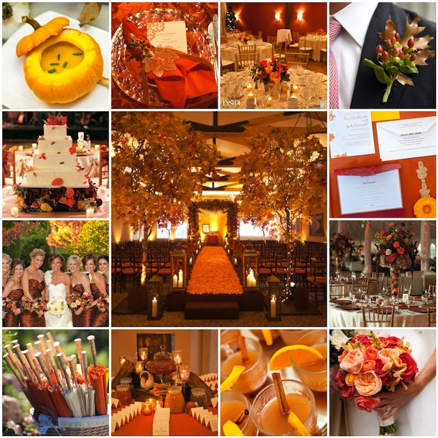 Fall wedding inspiration wedding themes inside weddings for Autumn wedding decoration ideas