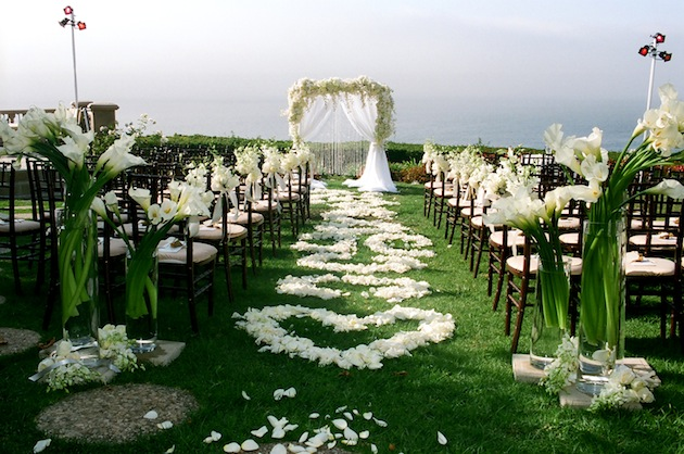 flower petal designs for the wedding ceremony aisle. Black Bedroom Furniture Sets. Home Design Ideas