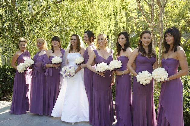 Grey bridesmaid dresses and grey suits