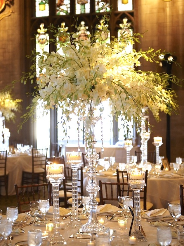 White wedding centerpieces wedding flowers inside weddings for Center arrangements for weddings