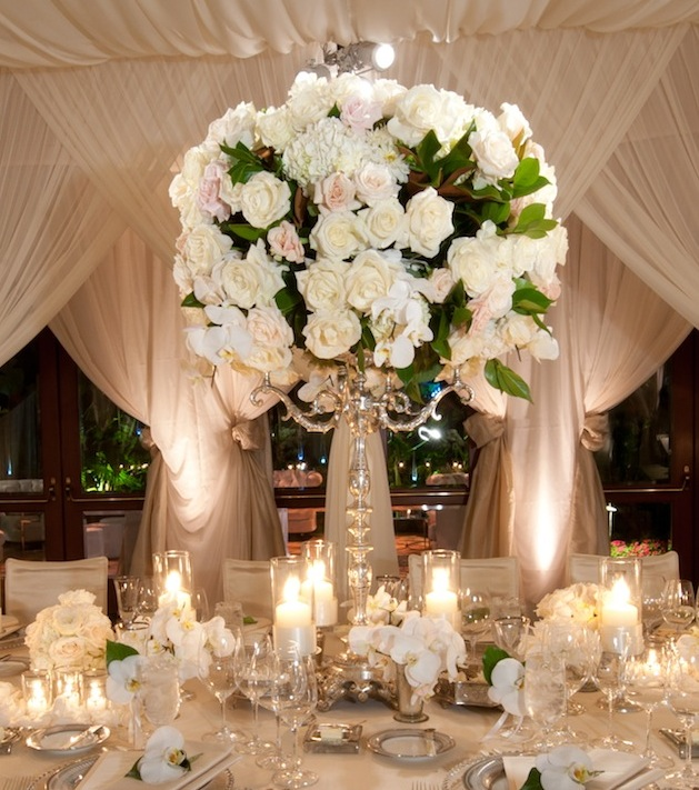 White Wedding Centerpieces Flowers Inside Weddings